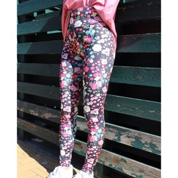 NICOLE LEGGING BLACK FLOWER